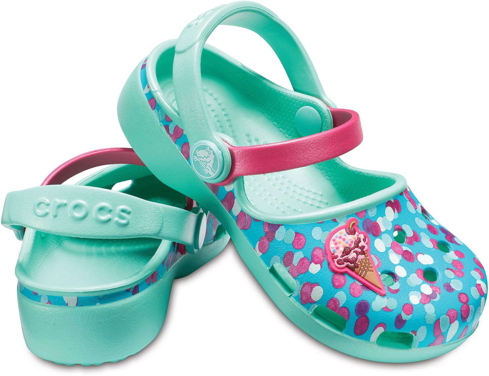 ceb03b1f6d37 Crocs Karin Novelty Sandals Children pink turquoise at Addnature.co.uk